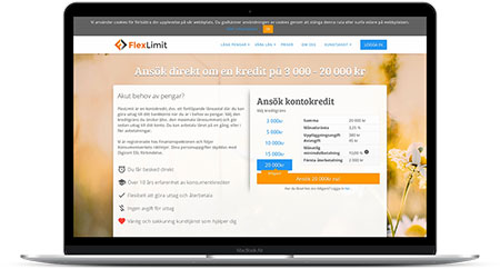 Ansök om onlinekredit hos Flexlimit