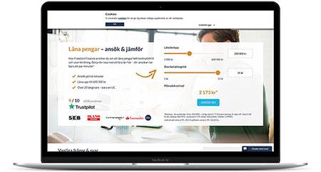 Hitta billiga lån via Freedom Finance