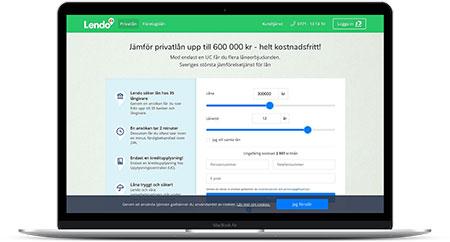 Hitta billiga privatlån via Lendo